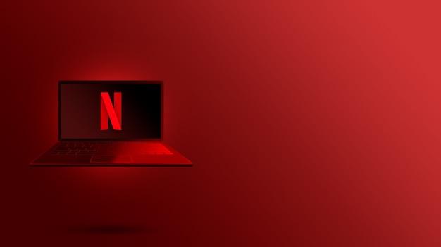 Logo netflix sullo schermo del laptop