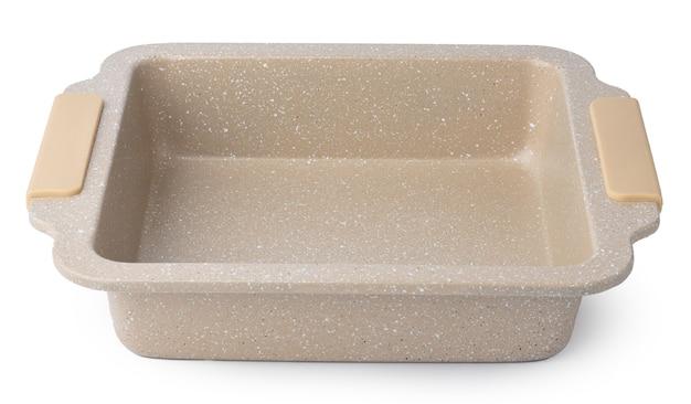 Nuova teglia in ceramica isolata