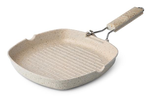 Nuova padella in ceramica antiaderente isolata