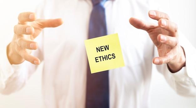 Nuova iscrizione etica su carta nuova normalità