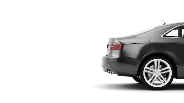 Nuovo generico di lusso dettaglio auto sportiva guida illustrazione isolato su una superficie bianca