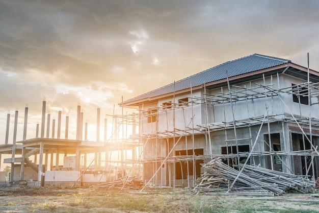 Costruzione nuova casa in cantiere