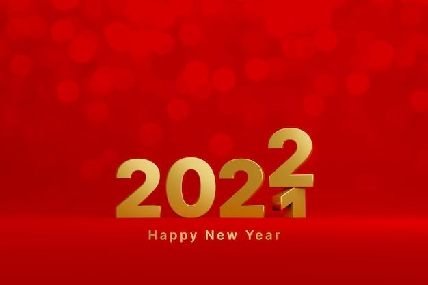 Il nuovo anno 2021 passa al concetto 2022 buon natale e felice anno nuovo conto alla rovescia fino al 2022