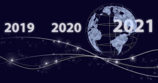 Anno nuovo concetto. 2021 anno nuovo. concept start new year 2022. happy new year 2022. concept for vision 2021-2022. l'uomo d'affari dà il benvenuto all'anno 2022.