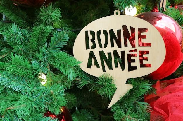 Ornamento di saluto del nuovo anno in francese