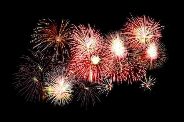 Sfondo di fuochi d'artificio di capodanno