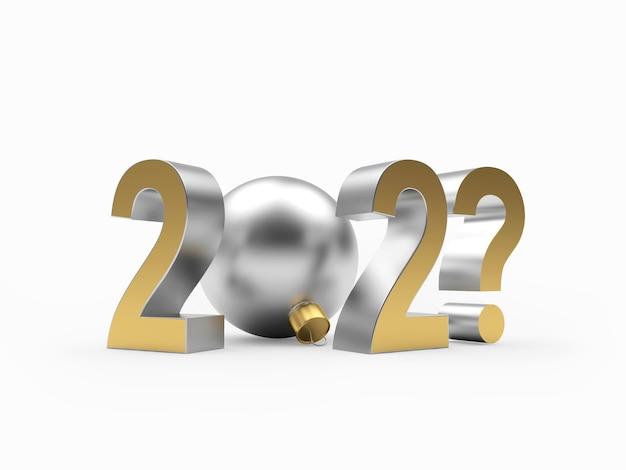 Capodanno numero del nuovo anno con punto interrogativo