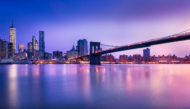 Luci di new york city Foto Premium
