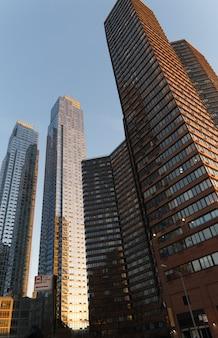 Strade di new york, edifici di manhattan