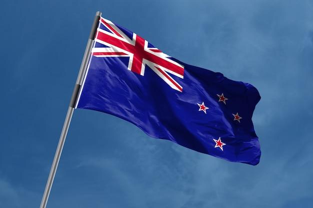 Bandiera della nuova zelanda che ondeggia