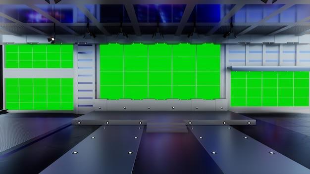News studio per programmi tv tv on wall virtual news studio