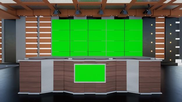 News studio per spettacoli televisivi notizie virtuali