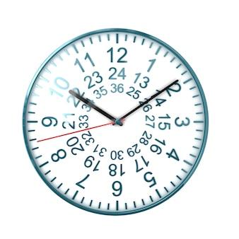 Bel orologio su bianco
