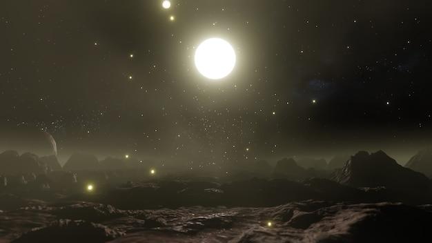 The night sky on the cliff valley sfondo per carta da parati nella scena della natura e della pubblicità