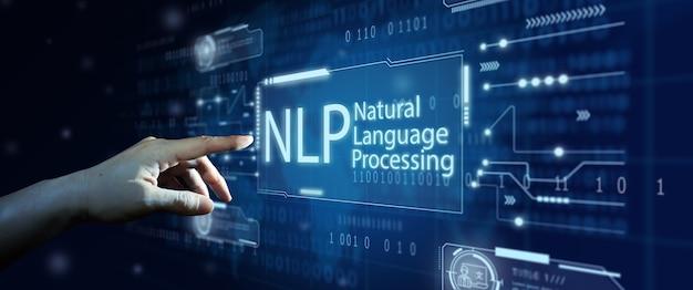 Concetto di tecnologia di elaborazione cognitiva del linguaggio naturale della pnl