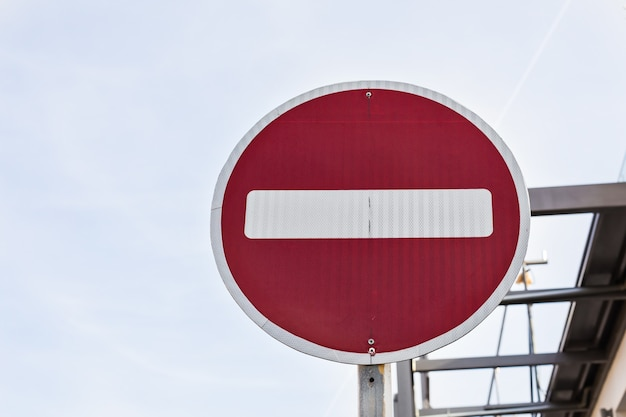 Nessun segnale stradale di entrata
