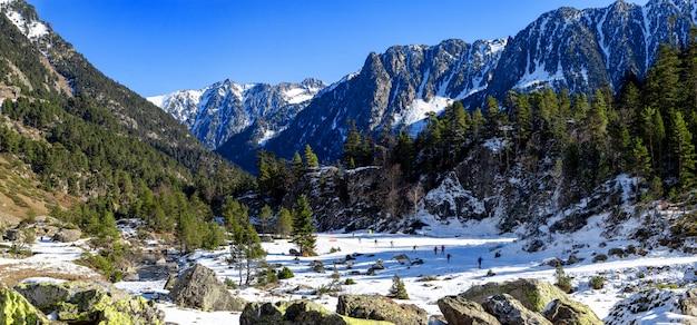 Piste nordiche di cauterets, montagne dei pirenei, francia