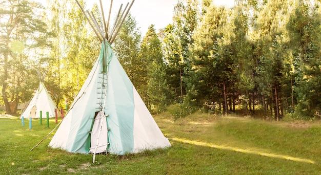 Foresta indiana nordamericana a casa