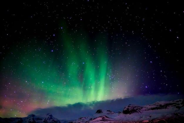 Aurora boreale dal sud dell'islanda