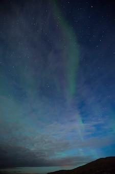 Aurora boreale a nordkapp, norvegia settentrionale. europa.