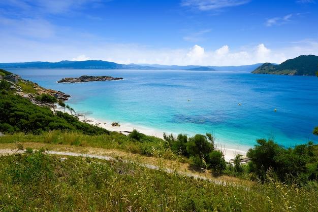 Spiaggia di nostra senora nelle isole islas cies di vigo