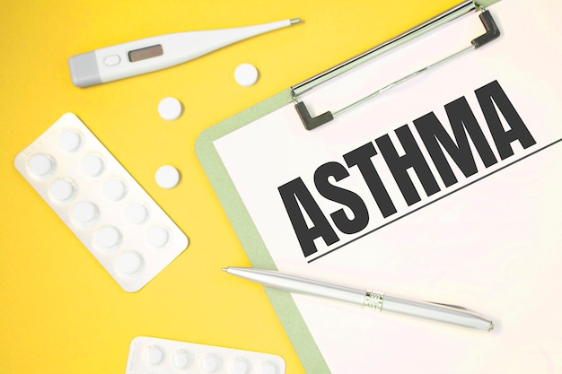 Pagina del taccuino con testo asma
