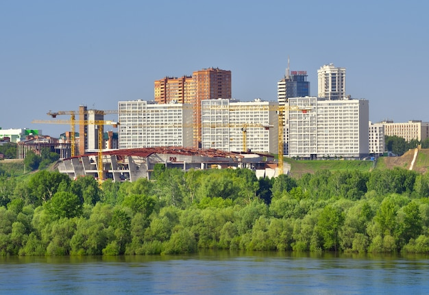 Novosibirsk siberia russia06062021 distretto di gorsky sulla riva del fiume ob