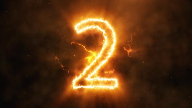 Numero 2 in fiamme