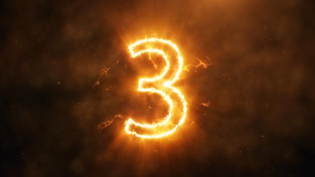Numero 3 in fiamme