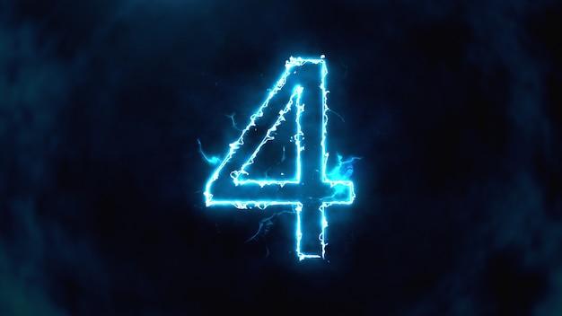 Numero 4 in fiamme