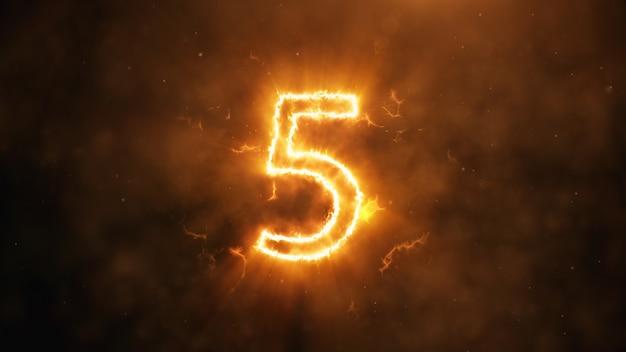Numero 5 in fiamme