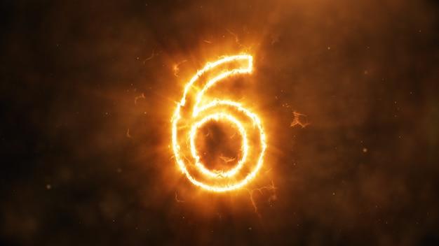 Numero 6 in fiamme