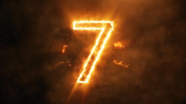 Numero 7 in fiamme