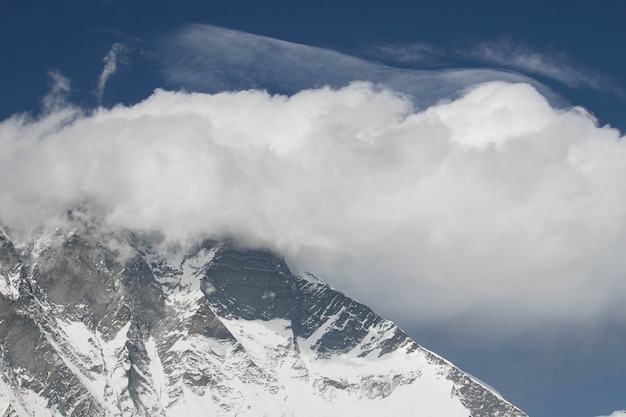 Il nuptse è quello della montagna in nepal e si trova a oltre 8000 metri