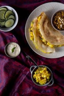 Composizione di dosa indiana nutriente