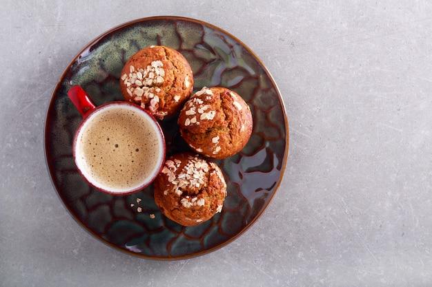 Muffin all'avena e lampone