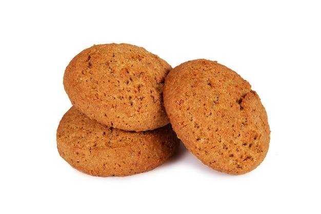 Biscotti di farina d'avena isolati