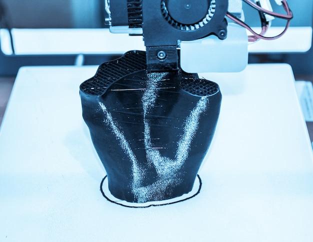 Oggetti stampati da d stampante filtro scuro automatico tridimensionale