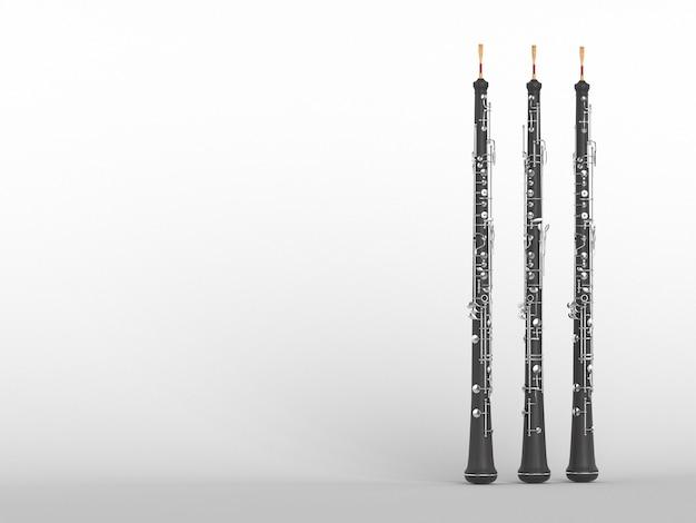 Oboe isolato su bianco