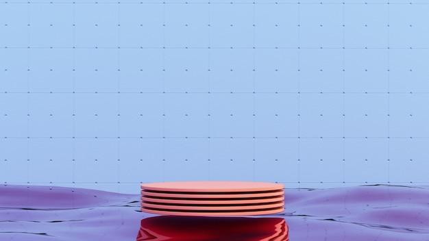 Acqua oceanica con podio per prodotto. bellezza cosmetica. scenografia alla moda.