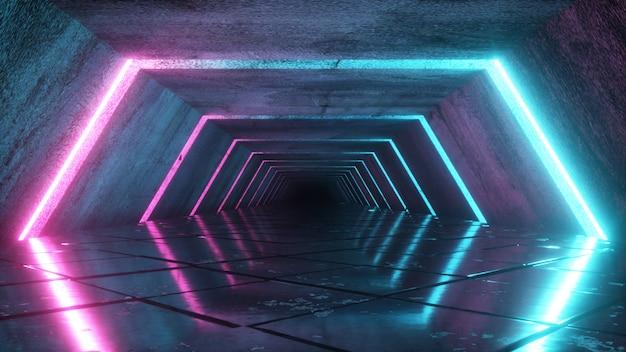 Odern futuristico corridoio vuoto