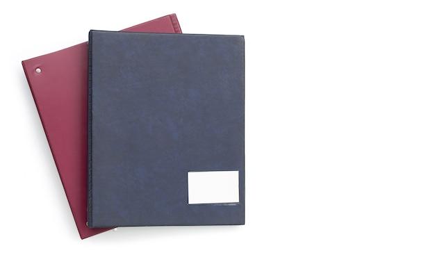 Cartelle di office su superficie bianca