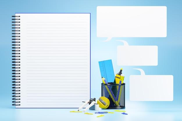 Forniture per ufficio e caselle di testo