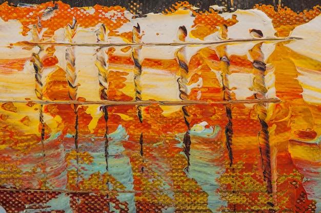 Pittura a olio astratta arte acrilica sfondo