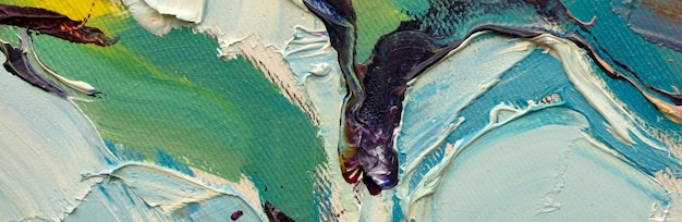 Pittura a olio astratta primo piano del dipinto sfondo colorato dipinto astratto