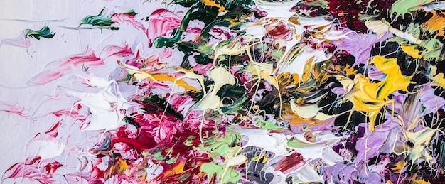 Dipinto ad olio su tela arte astratta frammento di sfondo di opere d'arte moderna pennellate di vernice