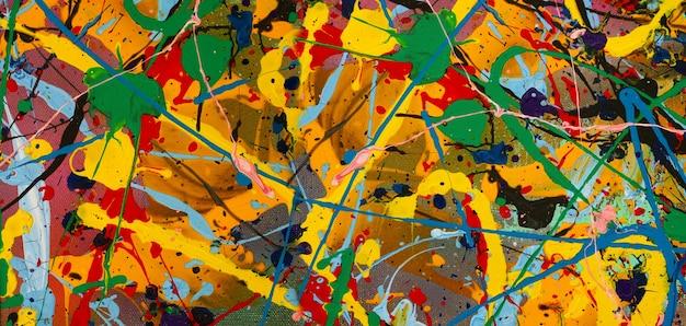 Dipinto ad olio su tela sfondo astratto.