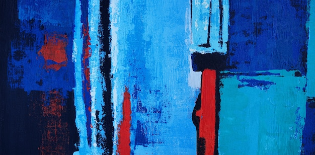 Dipinto olio su tela astratto con texture panorama.