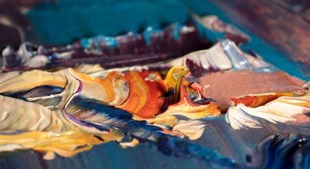 Frammento di pittura a olio illustrazione astratta