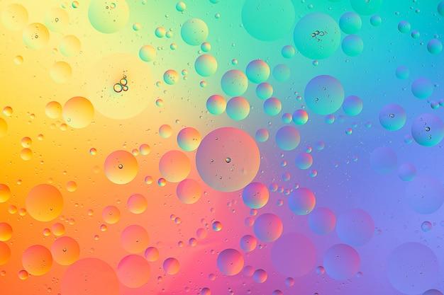 Olio su fotografia macro acqua di sfondo sfumato colorato astratto